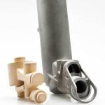 Komplexe Innengeometrie für Luftdruck-Handgriff Kern 70 x 45 x 30 mm